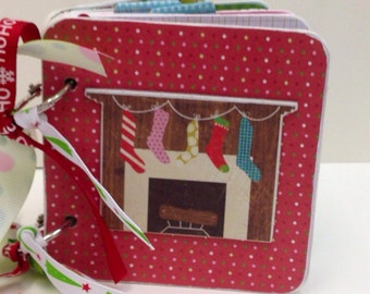 Christmas scrapbook  premade pages chipboard premade pages santa  joy snowflakes