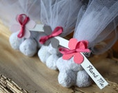 Pink and Grey Wedding Favours | Seed Bomb Wedding Favors | Plantable Favours | Classic Wedding Colors