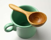 Wooden spoon coffee scoop measuring spoon 1 1/2 tablespoons of Cherry wood