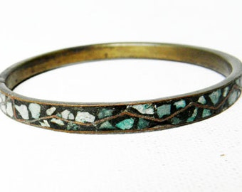 Vintage Bracelet Turquoise Bangle British India Bracelet