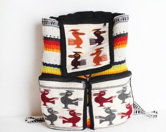 Vintage Woven FabricTribal Back Pack