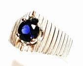 "Iolite ring, iolite, blue iolite, blue jewelry, blue, s 7  ""Stairway to  heaven"""