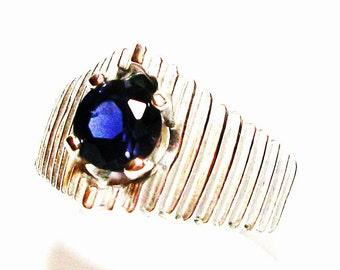 "Iolite ring, iolite, blue iolite, blue jewelry, blue, s 7  ""My blue  heaven"""