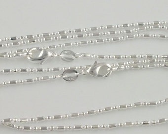 On Sale 50% Off 26 in. Silver 1mm LOCKET NECKLACE Pentagon Chain Mothers Day gift girl jewelry