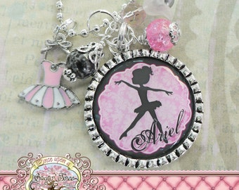 Children's Ballet Jewelry, BALLERINA NECKLACE, Ballerina Silhouette, Personalized Necklace, Ballet, Dance Recital, Tutu, Dance, Dancer