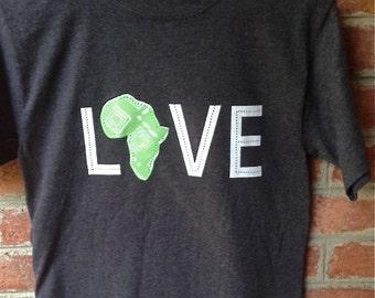LOVE Africa T-shirt: Small Mint Green