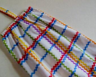 Storage Bag Holder in Ric Rac Fabric