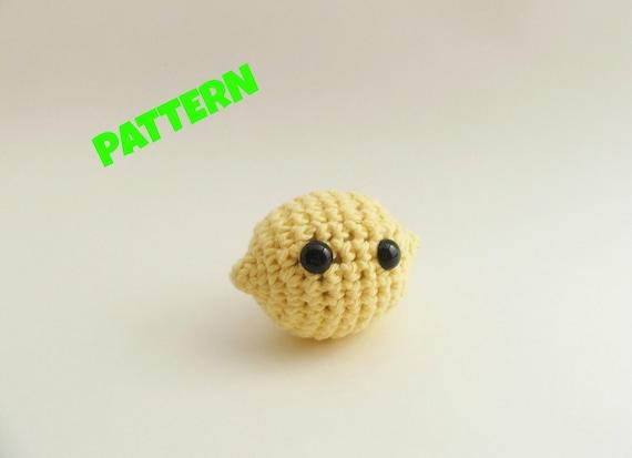 Amigurumi Lemon Pattern : Lemon Pattern / Amigurumi Food Pattern / Crochet Food Pattern
