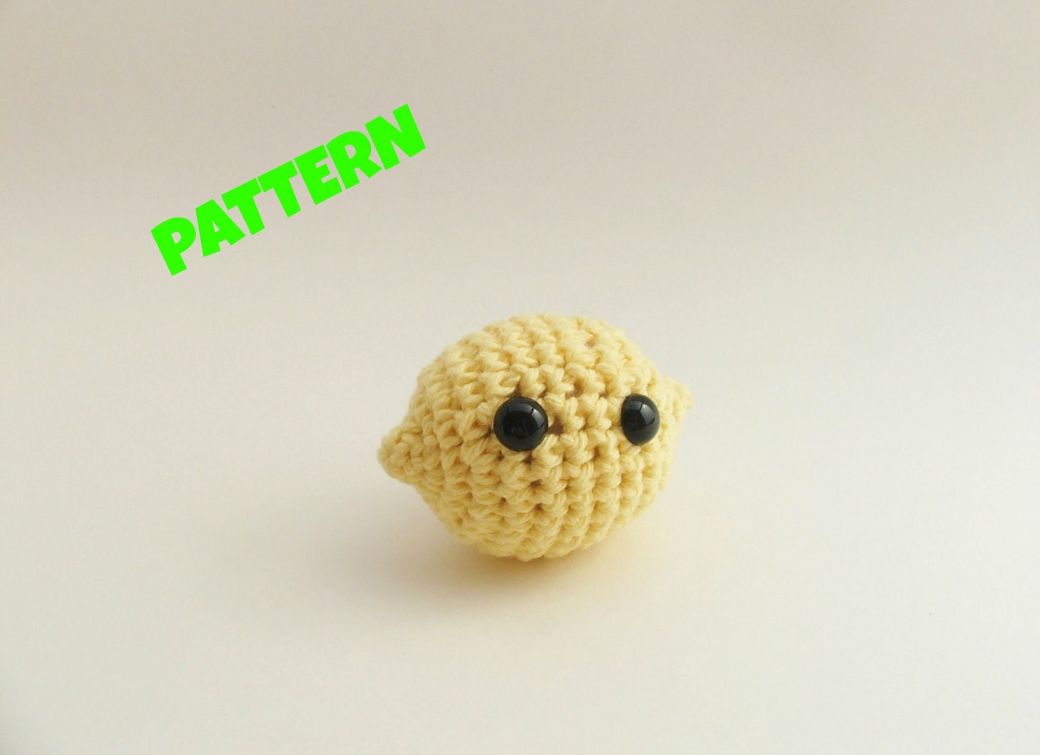 Lemon Pattern / Amigurumi Food Pattern / Crochet Food Pattern