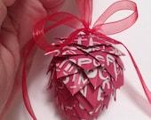 Folded paper ornament