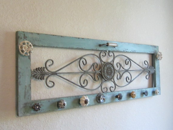 wall mount jewelry holder rustic upcycled jewelry holder