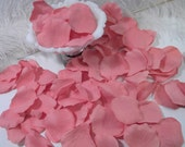 200 Coral Pink Mauve Bulk Petals, Artifical Rose Petals, Bridal Wedding Decoration, Flower Girl Toss Basket Petals Table Scatter