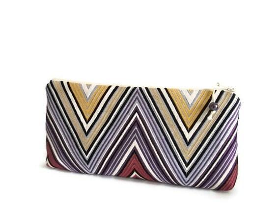 Purple Geometric Clutch, Wedding Bridal Bag, Evening Handbag, Lavender Clutch