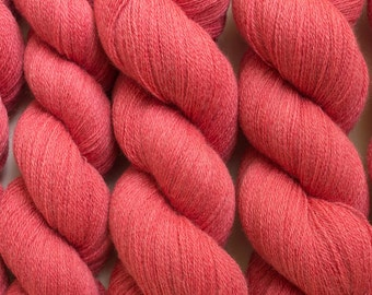 Coral Rose Lace Weight Recycled Merino Yarn, 1136 Yards Available