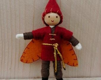 Autumn Doll - Boy Fairy - Bendy Doll - Elf Doll - Waldorf Doll - Boy Doll