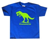 Personalized Trex Dinosaur Shirt - any name - many color choices!