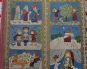 Merry Christmas - Natasha Simkbovitch - 1943 First Edition - Delightful Illustrations
