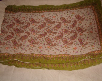 vinage head neck scarf brocade