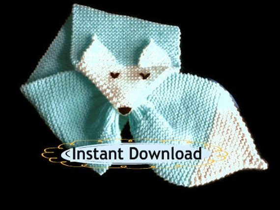 Fox Scarf Knitting Pattern : Easy Fox Scarf Knitting Pattern Scarf Fox by ToppyToppyKnits