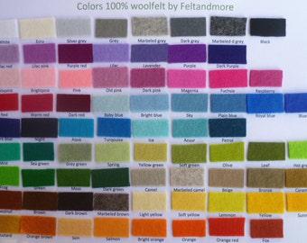 pure wool felt choose any 7 colours