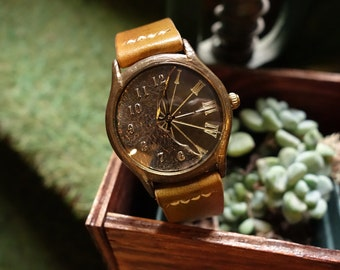 Vintage Retro Steampunk Handcraft Watch with Leather Band /// StyxM - Perfect Gift for Birthday, Anniversary