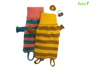 Sweater for dog - all sizes - Striped 100% MERINO wool knitted handmade doggy pet