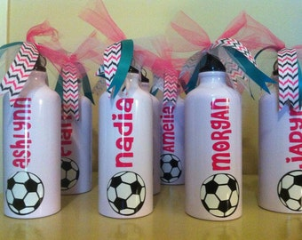 Personalized Soccer Water Bottles-Sports Team Gift-Banquet Gift-Cheer Squad Gift-Party Favors