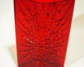 MCM Vintage Red Atomic Plastic Vase