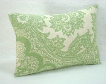 Damask Linen Pillow  Linen Lumbar Pillow Accent Pillow Bed Pillow Linen Pillow 15x10 Pillow Cover