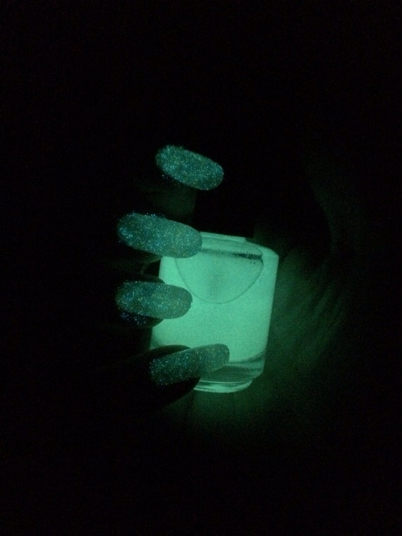 Green Constellation top coat Glow in the Dark nail polish by Comet Vomit