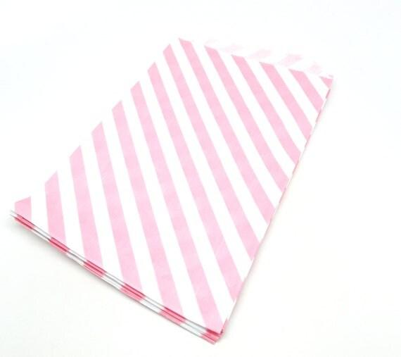 """Pink Favor Bag, Pink Gift Bag, 6.25"""" x 9.25"""", Set of 20"""