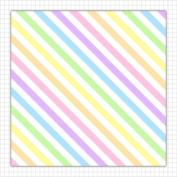 Pastel Rainbow Digital Paper Pastel Scrapbooking Paper