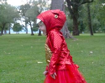 Kids Dinosaur Costume- Dino Girl Dinosaur costume, kids halloween costume, girls costume, dress up, pretend play, dragon costume, red dino