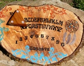 Ouija Board Native Dream Catcher Tribal Feathers Game Board On Maple Wood Round