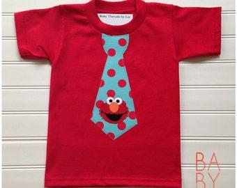 Custom Boutique Tie Shirt Boys Tops Boys Clothing Birthday Shirt Custom Shirt  Available 0-3 months through Size 10/12