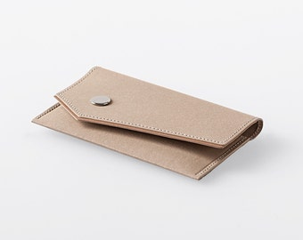 Bordered Angled Washable Paper Business Card Case in Mojave Sand