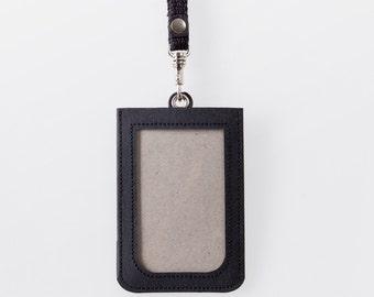 Washable Paper ID Badge Holder in Punaluu Black
