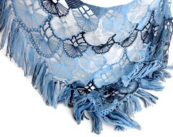 Lace Shawl // Crochet Shawl // Wedding Shawl // Wrap Shawl / Crochet Scarf / Shawl Wrap / Gifts For Her / Gifts For Women ///senoAccessory