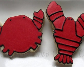 Crab and Lobster Cookies 2 dozen