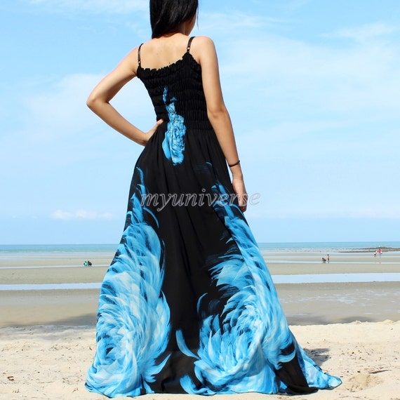 Maxi Dress Wedding Gown Black Bridesmaid Prom Summer Plus Size Clothing Floral Evening Sundress Hawaiian Handy Ball