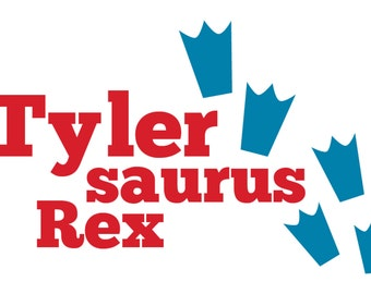 Personalized Dino Name Decal
