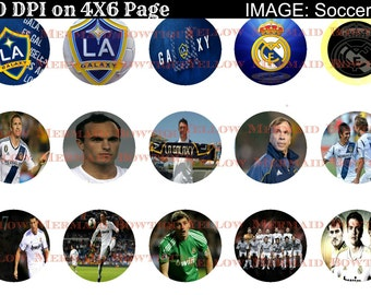 Buy ONE get FOUR FREE L A Galaxy Real Madrid Soccer 1 Inch Bottlecap Images 4x6 Sheet