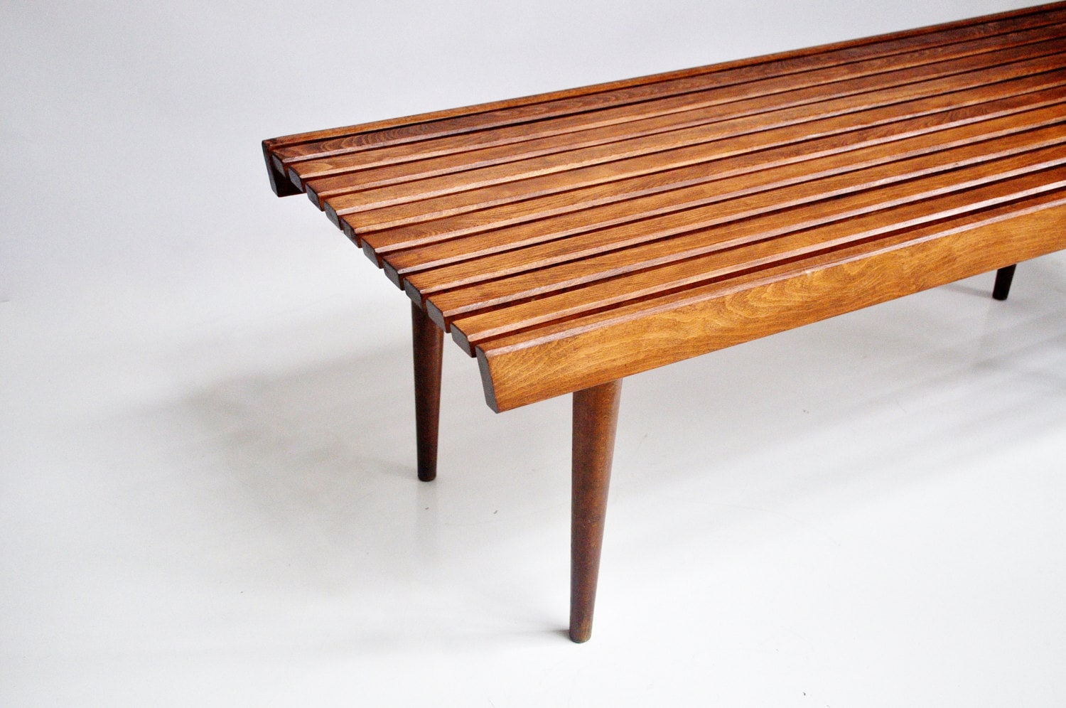 Mid Century Slat Bench Or Coffee Table By Thewhitepepper