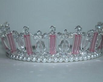 Pretty Pink Princess Tiara Crown