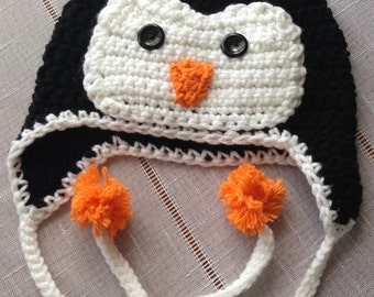 Penguin Hat Size 4-12 yrs