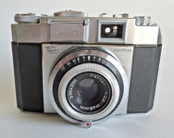 Vintage Zeiss Ikon Contina 35MM Pantar Lens f=45mm 1:2.8 with Case