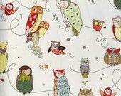 """FABRIC DESTASH - Large Remnant Alexander Henry Spotted Owl - 12"""" W x 70""""L"""