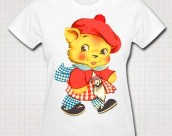 Scottish Tartan Cat T-Shirt