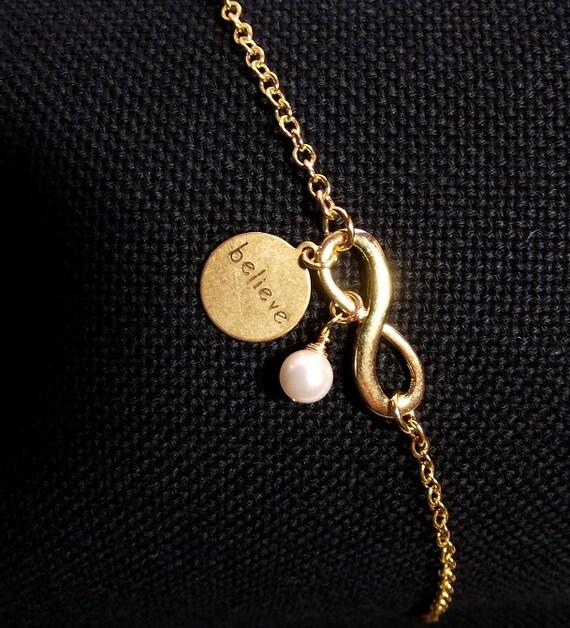BELIEVE Infinity Charm Bracelet Christmas By