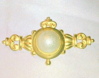 Vintage Faux Mabe Pearl Bar Pin